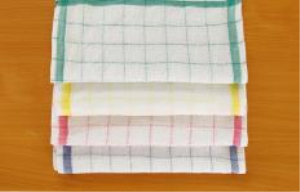 Kitchen towel 1. Size: 34x34cm 2. Weight: 22gr, 21gr, 20gr, etc  3. Yarn: 16s, 21s, 21s/2, 32/2, etc. 4. Color: White and dyed color (pink, blue, green, yellow, etc)